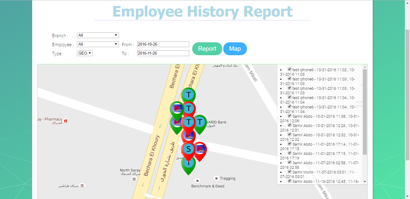 where's my staff Support employee history map where's my staff Support employee history map